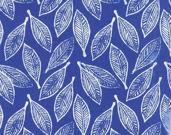Horizon Ultramarine Leaves Yardage # 27192-13 by Kate Spain for Moda Fabrics