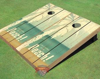 Custom Corn Hole Beach Life #1 Graphic Cornhole Boards