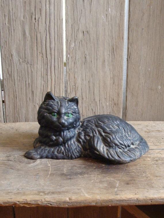 Vintage cast iron cat cast iron doorstop by macandmarys on etsy - Cast iron cat doorstop ...