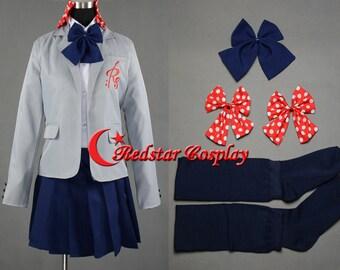 Gekkan Shoujo Nozaki-kun Sakura Chiyo Cosplay Costume School Uniform Dress - Custom made in sizes