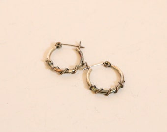 SALE!!!!Vintage Sterling Hoop Earrings