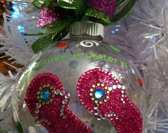 Flip Flop Christmas Ornament