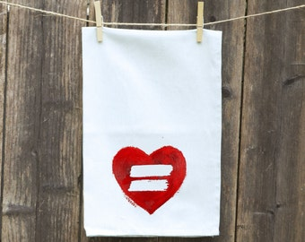 Tea Towels-Kitchen-Hand-Flour Sack-Dish -Customizable Tea Towels-Equality
