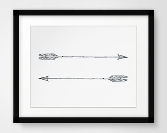 Sketch Art, Black and White Sketches, Black and White Sketch Art, Pencil Sketch, Sketch, Sketch Print, Art Sketches, Arrow Wall Decor