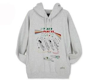 Hoodie Sweatshirts for Women Hooded Long Sleeve Shirt PLANT