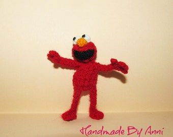 Elmo - handmade miniature Elmo crochet Elmo Sesame Street character amigurumi collectible toy