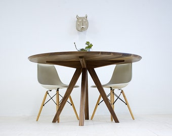 dining table round dining table modern dining table walnut dining table walnut