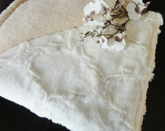 Ivory Minky Baby Blanket - Gender Neutral - Made to Order