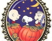 "Inspired Peanuts ""It's the Great Pumpkin Charlie Brown"" Pendant Necklace"
