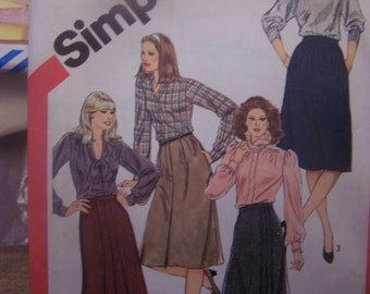 Simplicity5749, Size 12, Misses UNCUT sewing pattern, craft, supplies, womens skirts