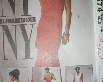 McCalls 6574, Size 12, dress, misses, womens, UNCUT sewing pattern, supplies