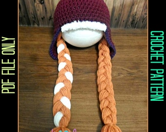 Anna Hat Crochet Pattern--- PDF File ONLY---Digital Download