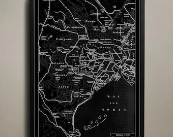 TOKYO Map Print Poster