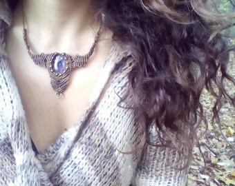 Dreamtime Magic Amethyst Faery Necklace