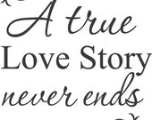 A True Love Story Wall Painting Furniture Stencil