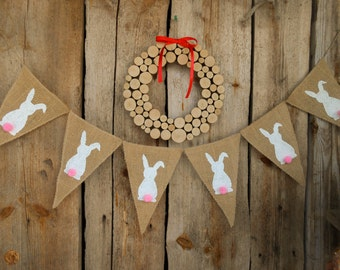 Easter bunting easter decor bunny garland bunny banner for Arland decoration