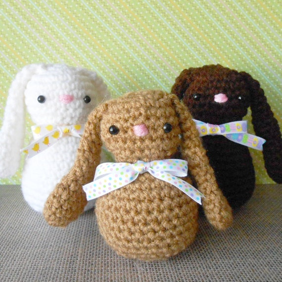 Amigurumi Floppy Ear Bunny : Floppy Ear Easter Bunny Amigurumi Crochet Toy by SNOEdesigns