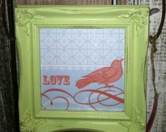 Love Bird framed Print. Framed Art. Framed Print. Home Decor.