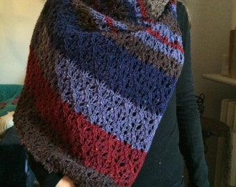 Hand knitted wool Scarf - SALE!