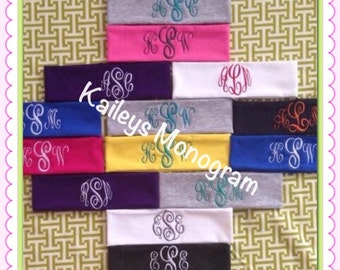 Monogrammed Headband Preppy Hair Accessories Personalized Embroidery Dance Team Cheer Team Kaileys Monogram Kaileysmonogram