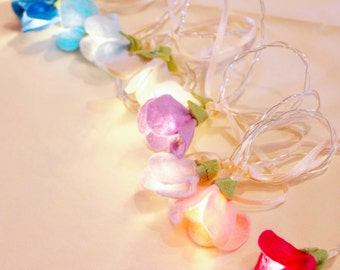 Sweet Pea fairy lights, mothers day gift, gift for her, decorative fairy lights, girls room decor, wedding lighting