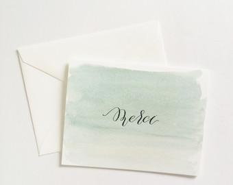 "Letterpress ""Merci"" Card"