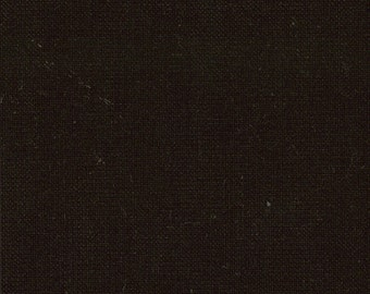 Solid Midnight Black Fabric - Bella Solid Soft Finish by Moda Basics Fabrics 9900 99 - 1/2 yard