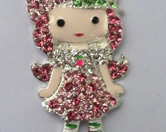 Items similar to strawberry shortcake inspired 3 piece for Strawberry shortcake necklace jewelry