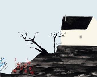 House (Illustration, Print) by Ana Frois