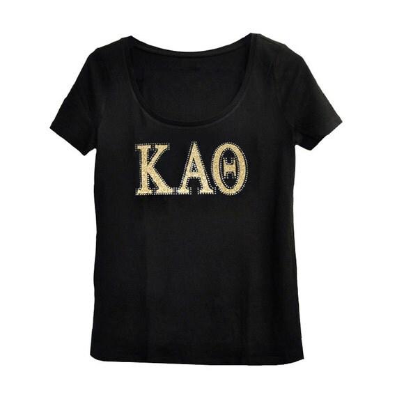 Kappa alpha theta sorority letter bling t shirt by navikagirl for Cute greek letter shirts