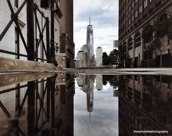 Through the streets of Jersey City, Original photograph