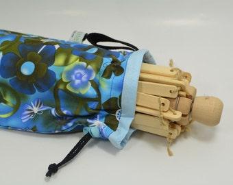Yarn Swift Cover - Yarn Winder - Drawstring Padded Bag - Limmited Edition Blue Print