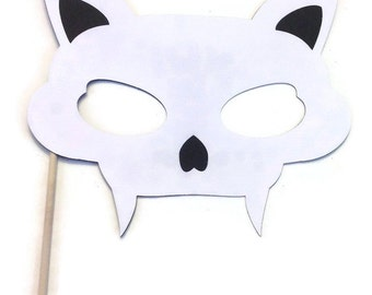 Halloween Photo Booth Props - Cat Skull Photo Booth Prop