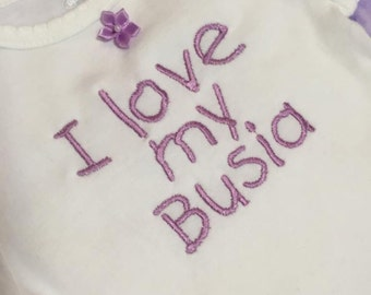 I love my Busia onsie- made to order