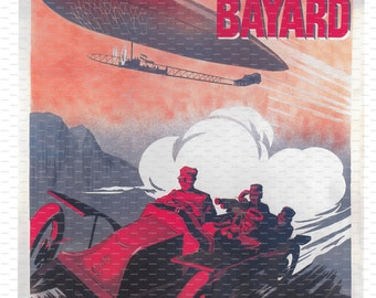 En Reconnaissance. Clement-Bayard. France. Airship Poster. Flight Poster.