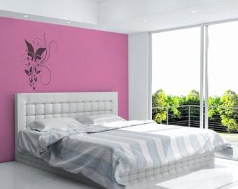Butterflies and Flowers Vinyl Wall Art Decal