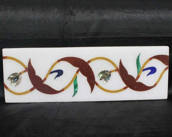 Pietra Dura Tiles Marble Inlay Handmade Art