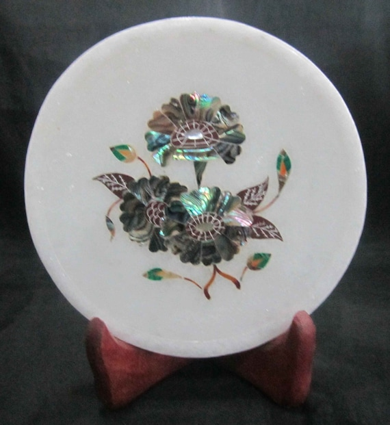 Wall Plates Pietra Dura Marble Inlay Plate Home Decorative