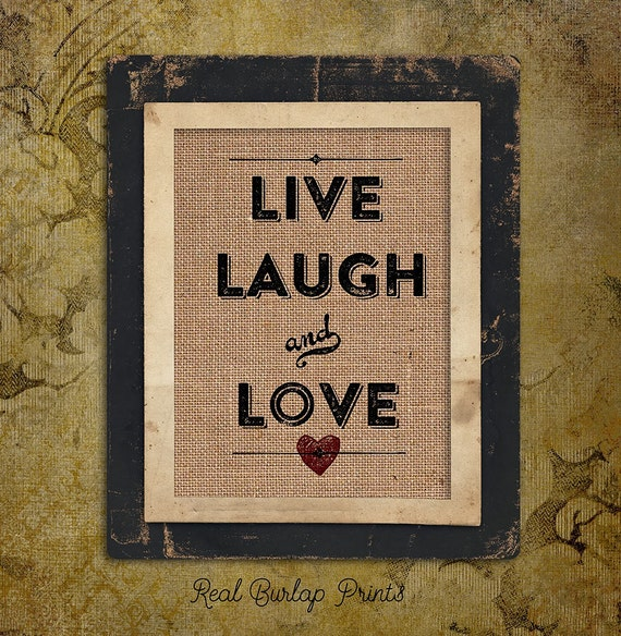 Live Laugh Love | Red Heart | Valentines Day | Love Quote | typography | 8x10 |  #0011