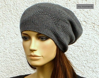 Beanie, Cap STAR, Merino, medium gray
