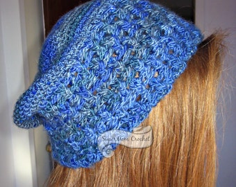 Crochet Braided Posts Slouch Hat (Pattern)