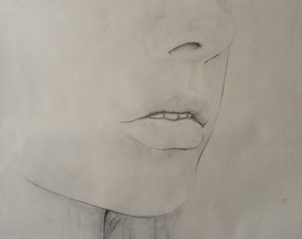 Girl Pencil drawing A1 size