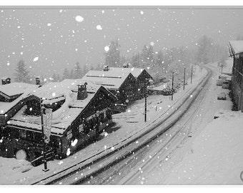 Snowfall, Les Trois Vallées,Three Valleys, La Tania, France Snow Prints, Snow Photography, Snow Flakes Print,Winter Snow Photos,Winter Cabin