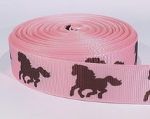 "5 yards of 7/8 inch ""Horse"" grosgrain ribbon"