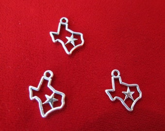 """BULK! 30pc """"Texas"""" charms in antique silver style (BC515B)"""