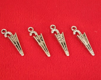 """10pc """"umbrella"""" charms in antique silver style (BC529)"""