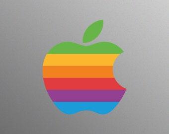 Retro Apple Logo Decal Sticker for Apple iMac Computer