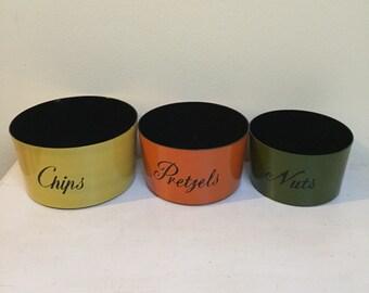 Retro Nasco Nesting Snack Bowls Set of 3