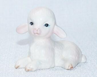 Vintage Lamb Lefton Figurine White Lamb Figurine,