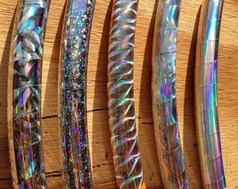 Rainbow Holographic Performance Hula Hoop